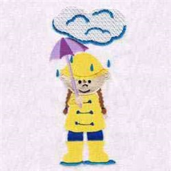 Rain Rain Go Away embroidery design