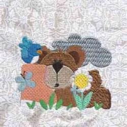 Rainy Day Bears embroidery design