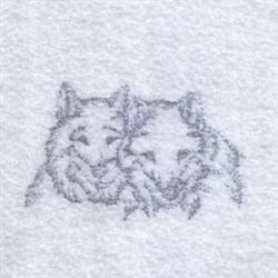 Realistic Wolf Head embroidery design