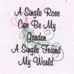 Rose Garden Poem embroidery design