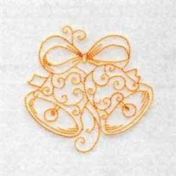 Redwork Xmas Bells embroidery design