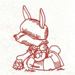 Redwork Egg Hunt embroidery design
