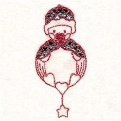 Redwork XMas Ornament embroidery design
