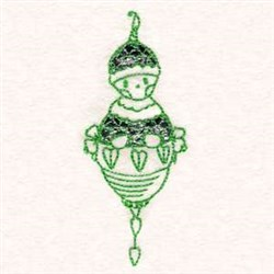Redwork XMas Ornament embroidery design