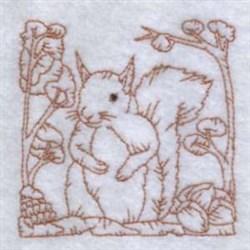 Redwork Squirrel embroidery design