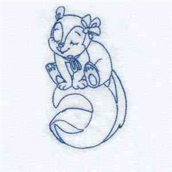 Sleepy Fall Squirrel embroidery design