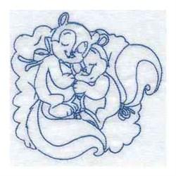 Sleepy Fall Squirrel embroidery design