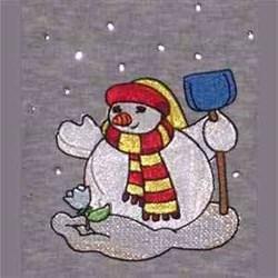 Snowman Gardening   embroidery design