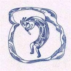 Kokopelli Symbol embroidery design