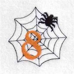 Spider Web Number 8 embroidery design