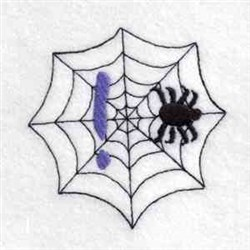 Spider Web Exclamation embroidery design