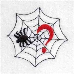 Spider Web Question embroidery design