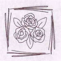Spring Rose Motif embroidery design