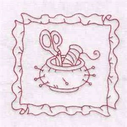 Sewing Tool Ornament embroidery design