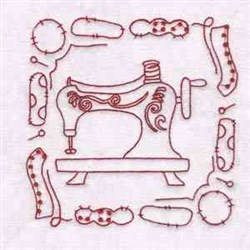 Sewing Machine & Tools embroidery design