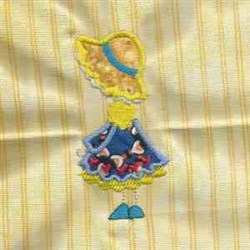 Stick Bonnet Girl embroidery design