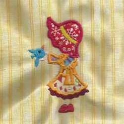 Stick Bonnet With Bird embroidery design
