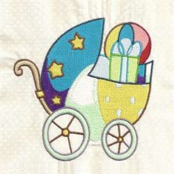 Baby Boy Carriage embroidery design