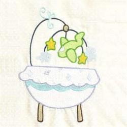 Baby Crib embroidery design