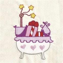 Baby Girl Crib embroidery design