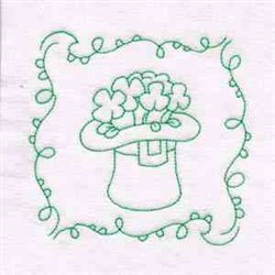 St Patricks Floral Hat embroidery design