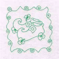 St Patricks Floral Shoe embroidery design