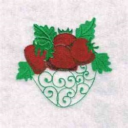 Strawberries Decoration embroidery design