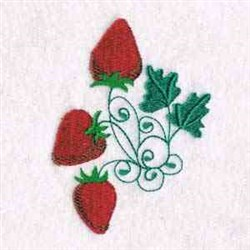 Strawberries Embellishment embroidery design