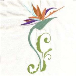 Tropical Floral embroidery design