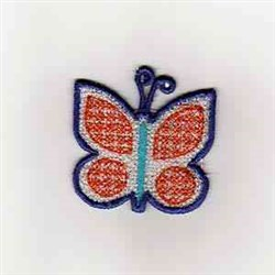 Summer Banner Butterfly embroidery design