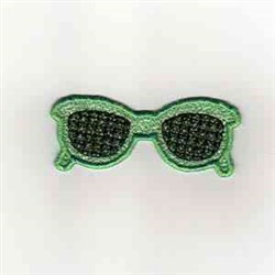 Summer Banner Sunglasses embroidery design