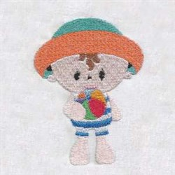 Summer Time Babies embroidery design