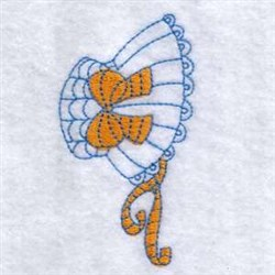 Sun Bonnet With Ribbon embroidery design