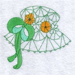 Floral Sun Hat embroidery design