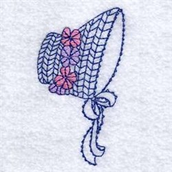 Floral Hat embroidery design