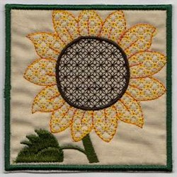 Sunflower Hanging embroidery design