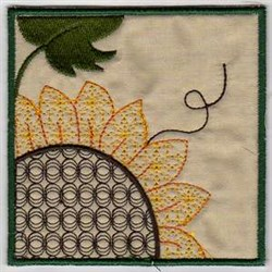 Sunflower Hanging Frame embroidery design