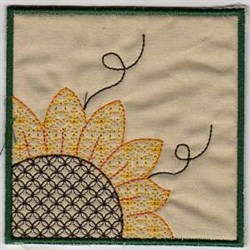 Sunflower Block embroidery design