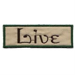 Live Frame embroidery design