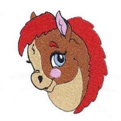 Pony Head embroidery design