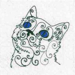 Swirl Cat   embroidery design