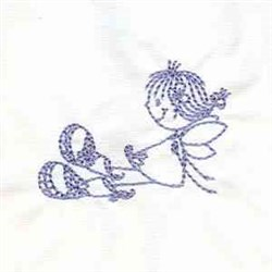 Fairy Relaxing embroidery design