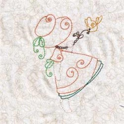 Swirly Spring Bonnet embroidery design