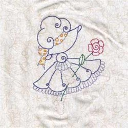 Spring Bonnet Floral embroidery design