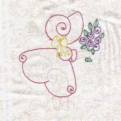 Floral Spring Bonnet embroidery design