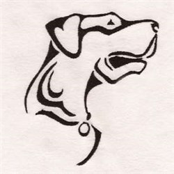 Canine embroidery design