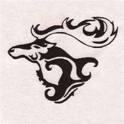 Elk Head embroidery design
