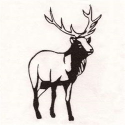 Deer Stag embroidery design