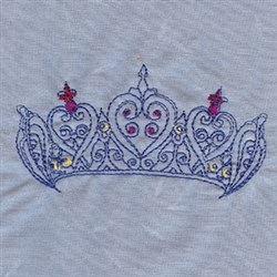 Jeweled Tiara embroidery design