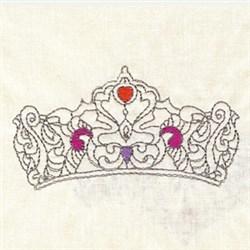 Tiara Outline embroidery design